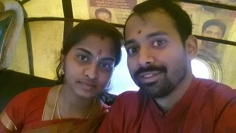 photo of Abinaya and Balamurugadas Ajay